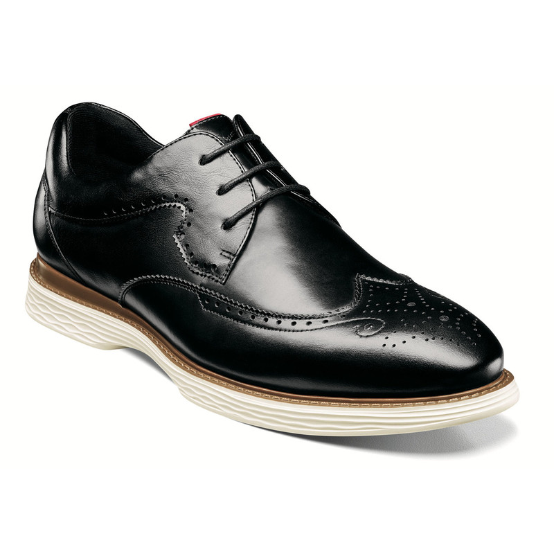Stacy Adams Men's Regent Wingtip Oxford - Black - 25269-001 - Angle