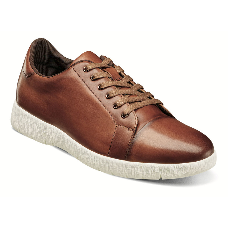 Stacy Adams Men's Hawkins Cap Toe Lace - Cognac - 25294-221 - Angle
