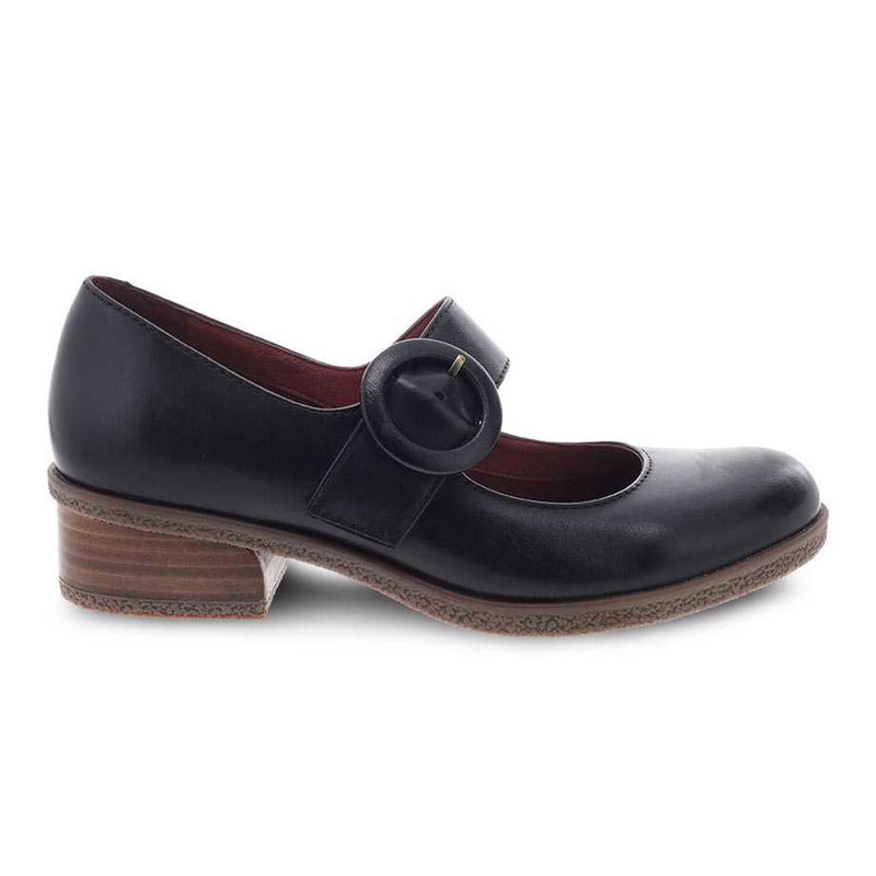 Dansko Women's Brandy - Black Waterproof Burnished - 2950-472300 - Angle