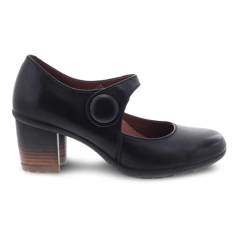 Dansko Women's Page - Black Waterproof Burnished - 3330-470200 - Profile