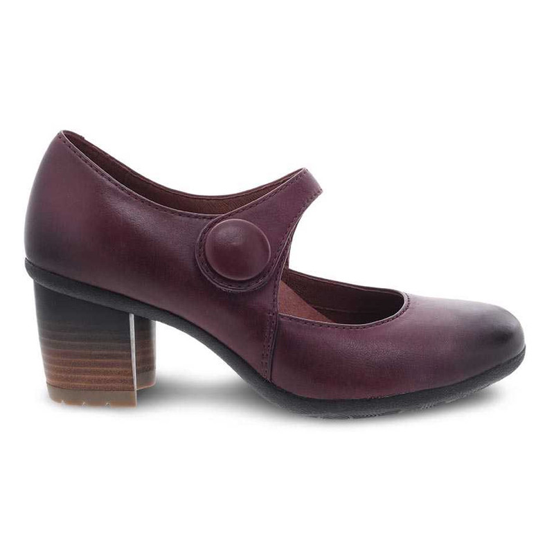 Dansko Women's Page - Wine Waterproof Burnished - 3330-880200 - Profile