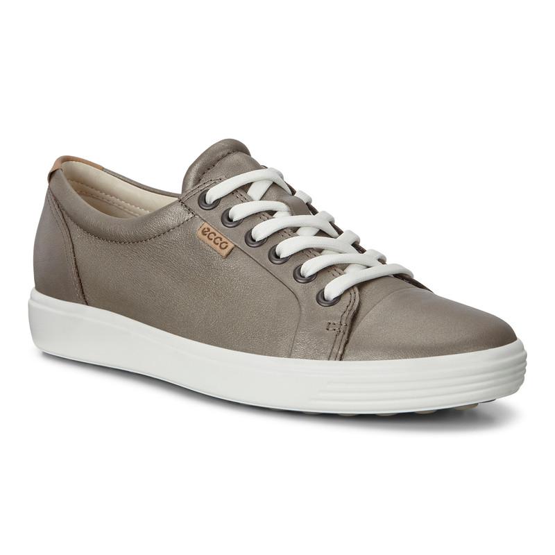 ECCO Women's Soft 7 Sneakers - Stone Metallic - 430003-51147 - Main Image