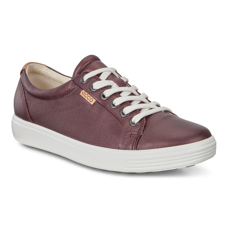 ECCO Women's Soft 7 Sneakers - Fig Metallic - 430003-51485 - Main Image