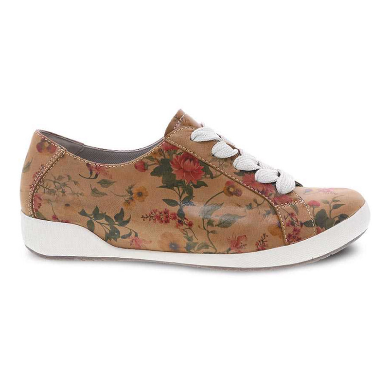 Dansko Women's Orli - Tan Floral - 4711-152300 - Profile
