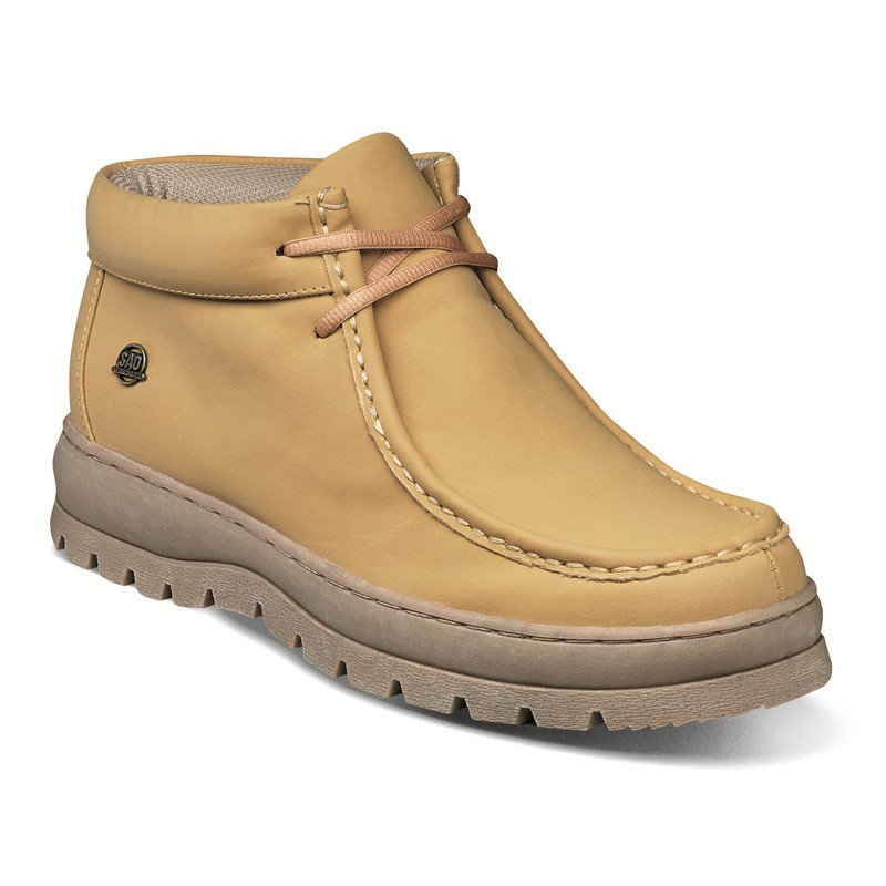 Stacy Adams Men's Wally Moc Toe Lace Up Boot - Wheat - 61004-267 - Angle