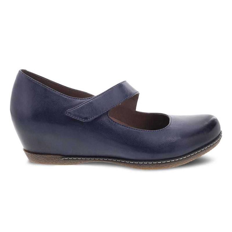 Dansko Women's Lanie - Blue Burnished Nubuck - 6907-541200 - Profile