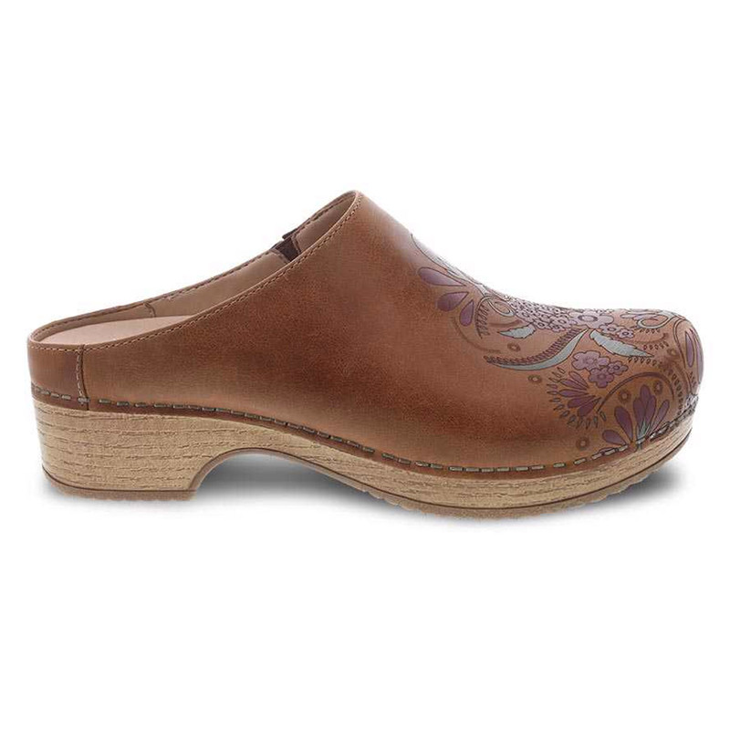 Dansko Women's Brenda - Tan Waxy Burnished - 9420-151600 - Profile