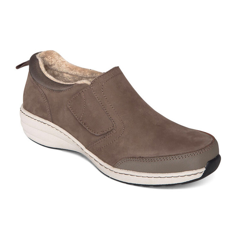 Aetrex Women's Tyra Slip-On - Warm Grey - BB346 - Angle
