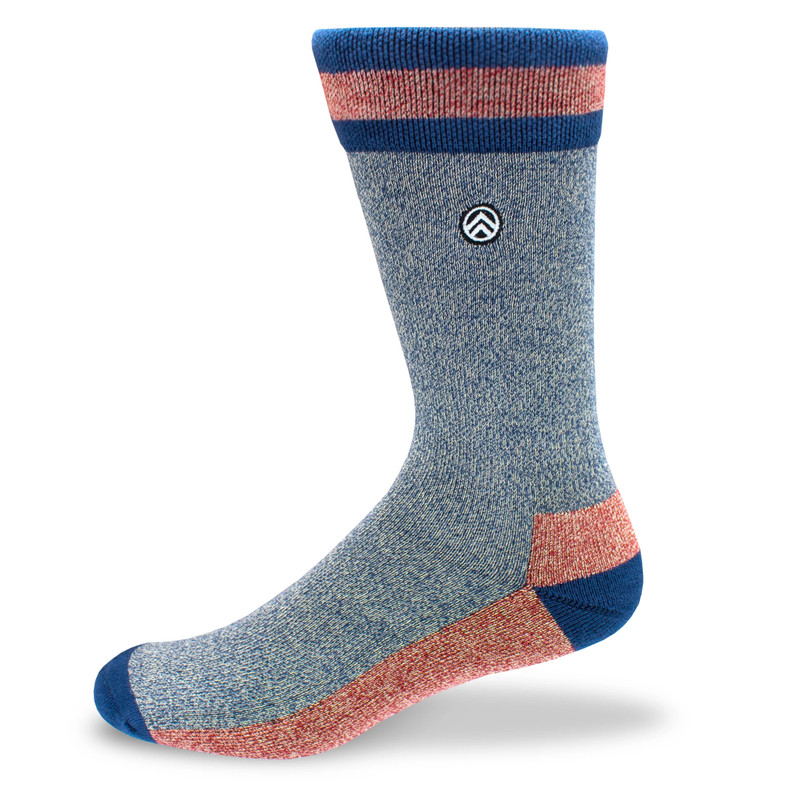 Sky Outfitters Bamboo Socks - Heather Blue - SKY/HEATHERBLUE - Profile