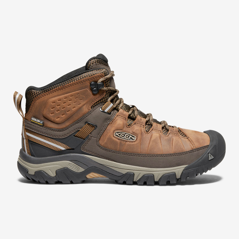 Keen Men's Targhee III Waterproof Mid - Big Ben / Golden Brown - 1018570 - Profile