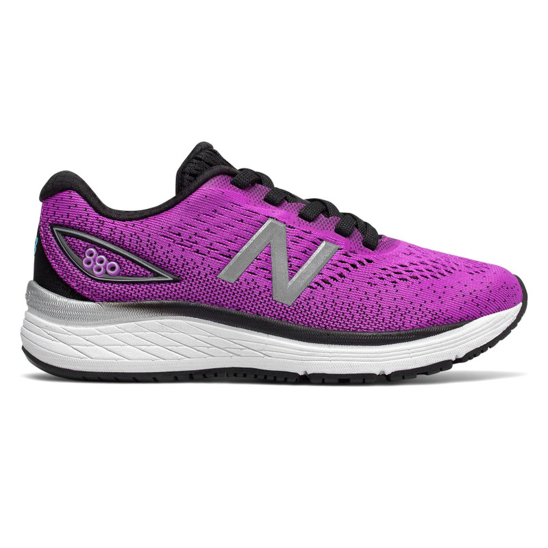 New Balance 880v9 Kid's Youth Running - Voltage Violet with Black - YP880VV - Profile