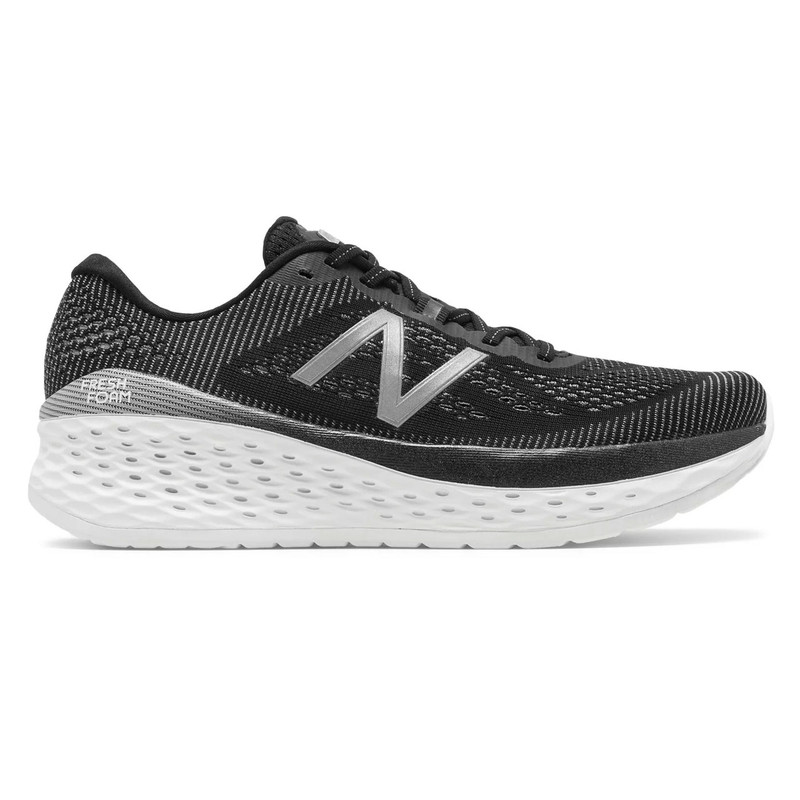 New Balance Men's Fresh Foam More - Black with Orca - MMORBK - Profile