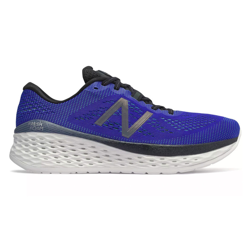 New Balance Men's Fresh Foam More - UV Blue with Black - MMORLB - Profile