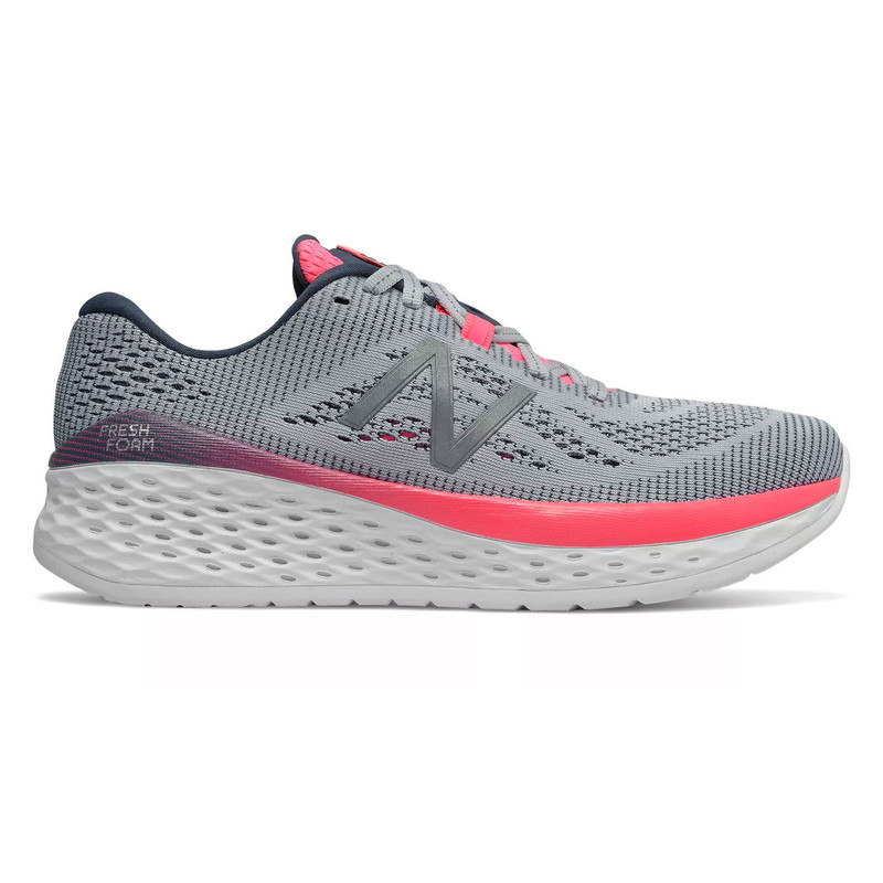 New Balance Women's Fresh Foam More - Light Cyclone with Guava & Reflection - WMORGC - Profile
