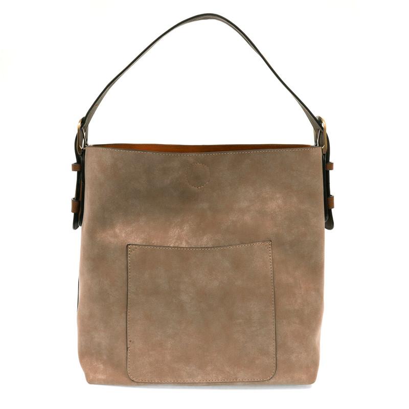 Joy Susan Lux Hobo Handbag - Desert Sand / Coffee - L8037-14 - Profile