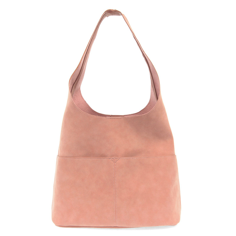Joy Susan Jenny Hobo Handbag - Dusty Rose - L8039-19 - Profile