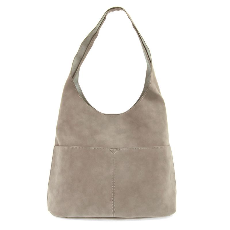 Joy Susan Jenny Hobo Handbag - Stone Grey - L8039-45 - Profile