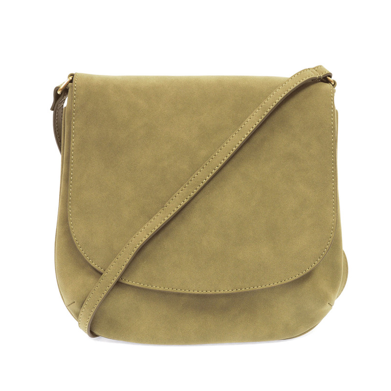 Joy Susan Jackie Flap Crossbody Handbag - Fern Green - L8043-23 - Profile
