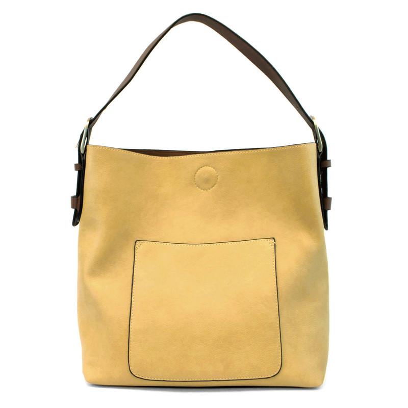 Joy Susan Classic Hobo Handbag - Celadon / Brown - L8008-30 - Profile