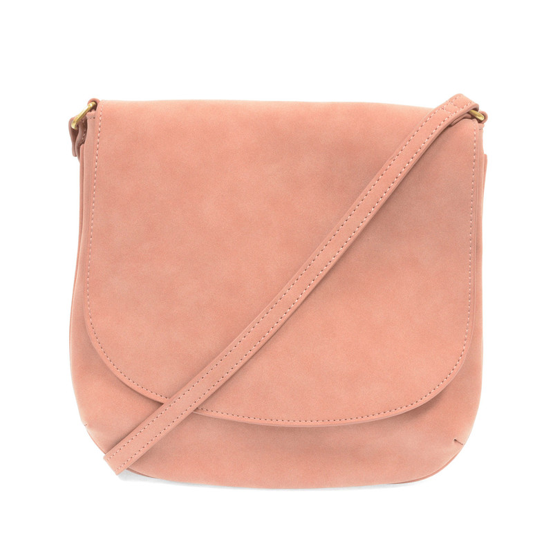 Joy Susan Jackie Flap Crossbody Handbag - Dusty Rose - L8043-19 - Profile