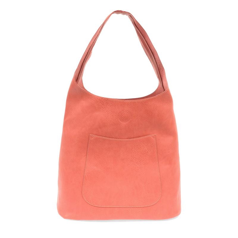 Joy Susan Molly Slouchy Hobo Handbag - Coral - L8017-12 - Profile