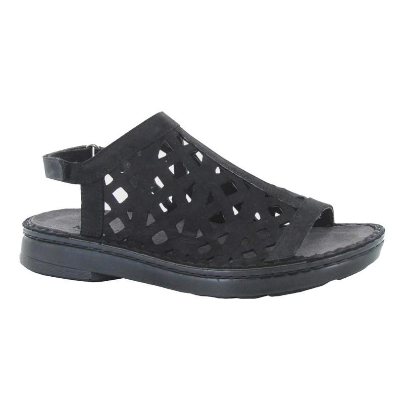 Naot Women's Amadora Sandal - Black Nubuck - 63417-B12 - Angle