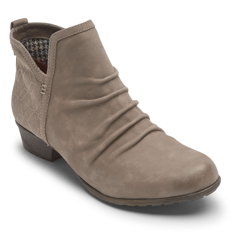 Rockport Cobb Hill Women's Gratasha 2 Panel Boot - Taupe - CH6182 - Angle