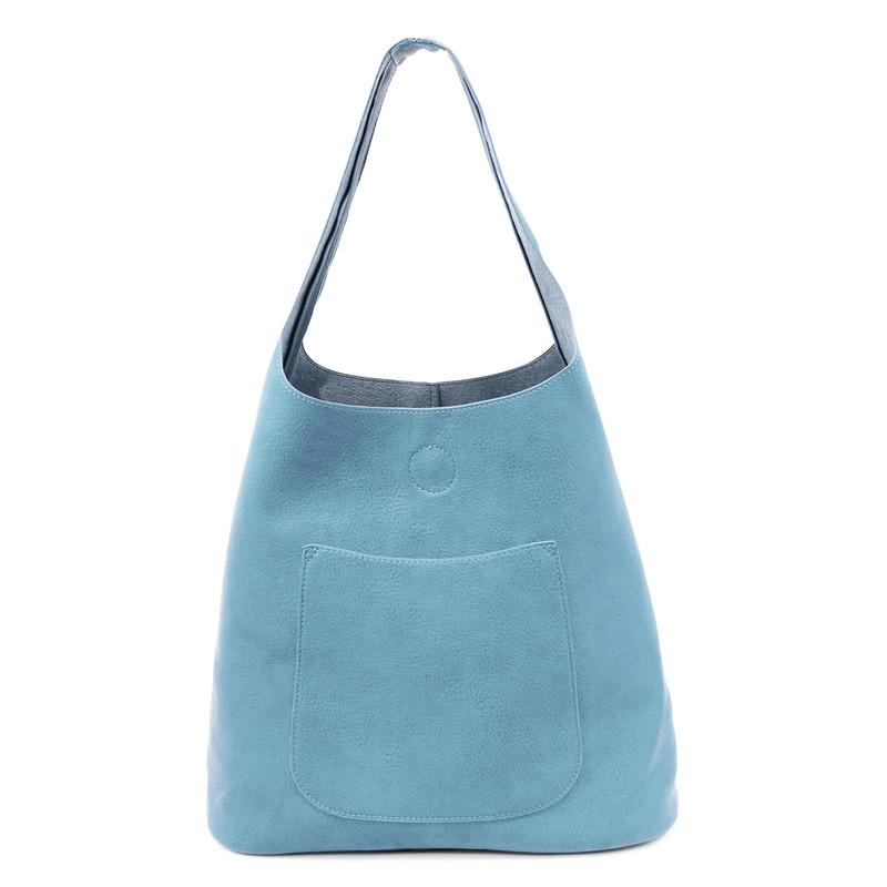 Joy Susan Molly Slouchy Hobo Handbag - Chambray - L8017-08 - Profile
