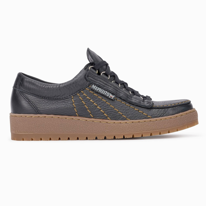 Mephisto Men's Rainbow - Black Oregon - RAINBOW1300 - Profile