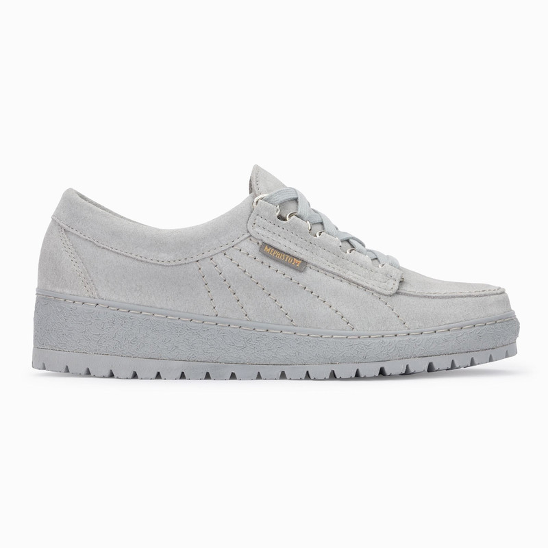 Mephisto Women's Lady - Light Grey Velour - LADY3005 - Profile