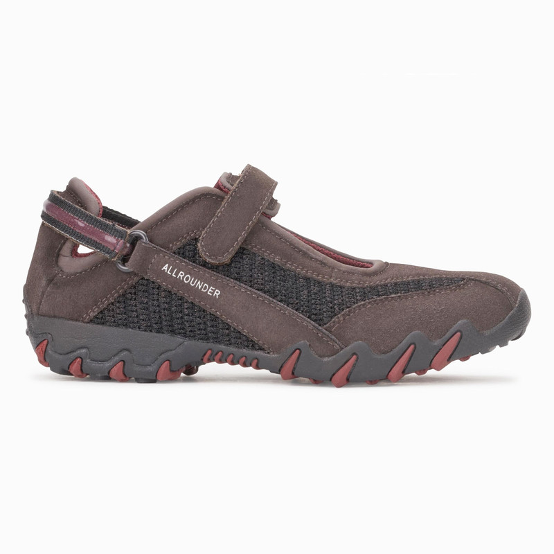 Mephisto Allrounder Women's Niro - Lavagna (Dark Brown) Suede / Black Flyknite - NIRO3/52 - Profile