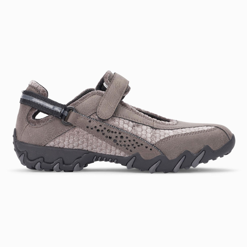 Mephisto Allrounder Women's Niro Diamonds - Charcoal Grey Crazing Suede / Hydrosoft - NIRODIAMOND0808 - Profile