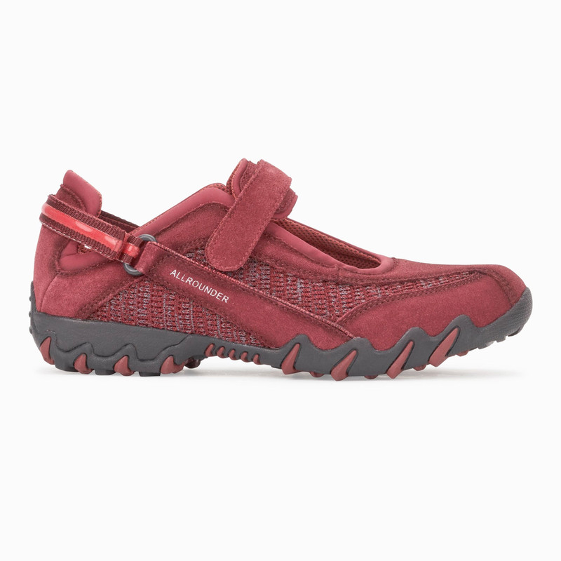Mephisto Allrounder Women's Niro - Dark Winter Red Suede / Flyknite - NIRO48/75 - Profile