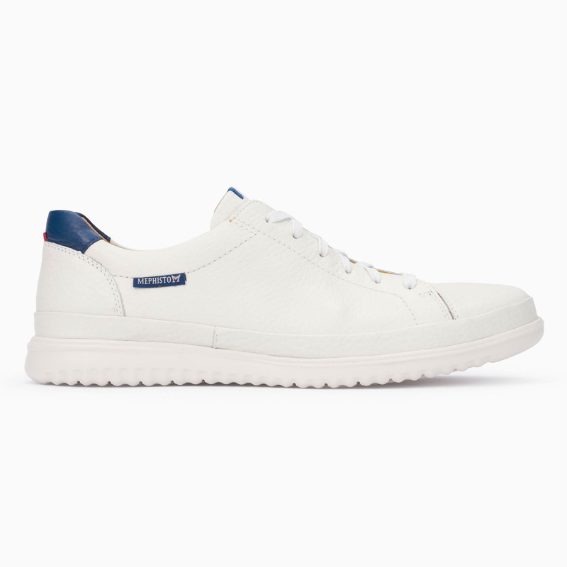 Mephisto Men's Thomas - White / Denim Oregon - THOMAS1330/1395 - Profile