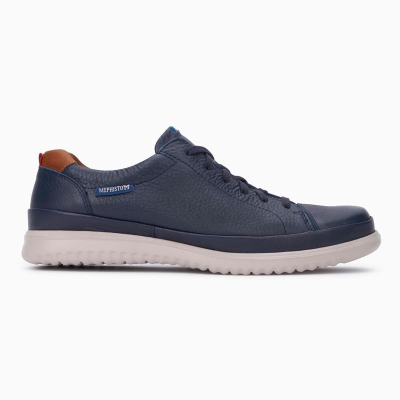 Mephisto Men's Thomas - Navy Oregon / Hazelnut Randy - THOMAS1345/6135 - Profile