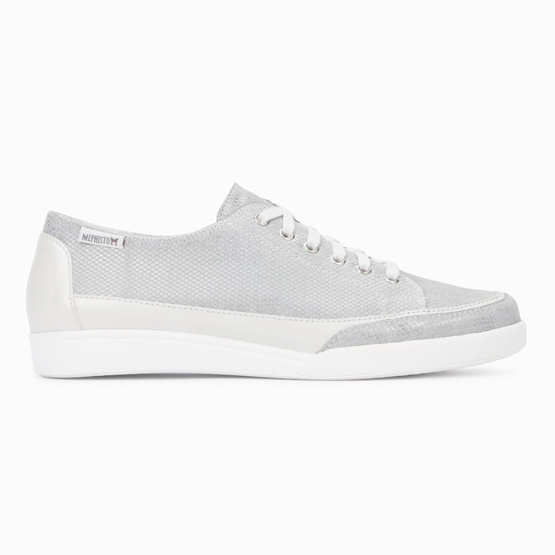 Mephisto Women's Delya - Light Grey Comporta / Off-White Perl Calfskin - DELYA5105/10180N - Profile