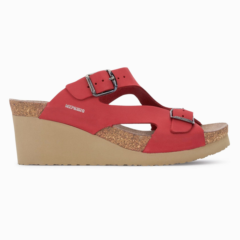 Mephisto Women's Terie - Red Nubuck - TERIE6048N - Profile