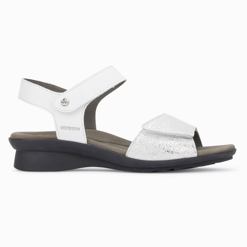 Mephisto Women's Pattie - White Silk / Silver Crash - PATTIE7830/13368 - Profile