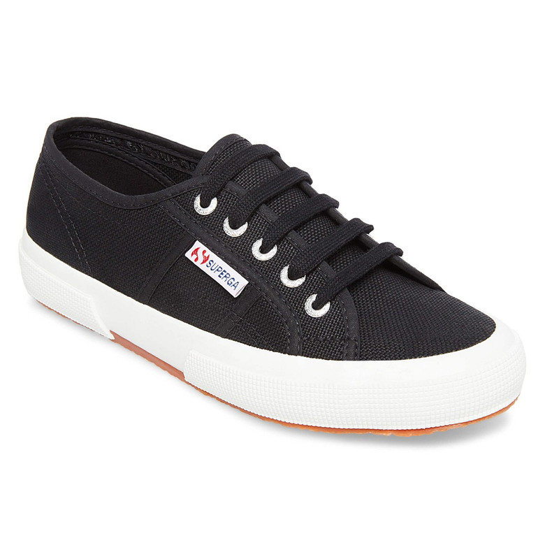 Superga Women's 2750 Cotu Sneaker - Black / White - S000010/BLKWHT - Main Image