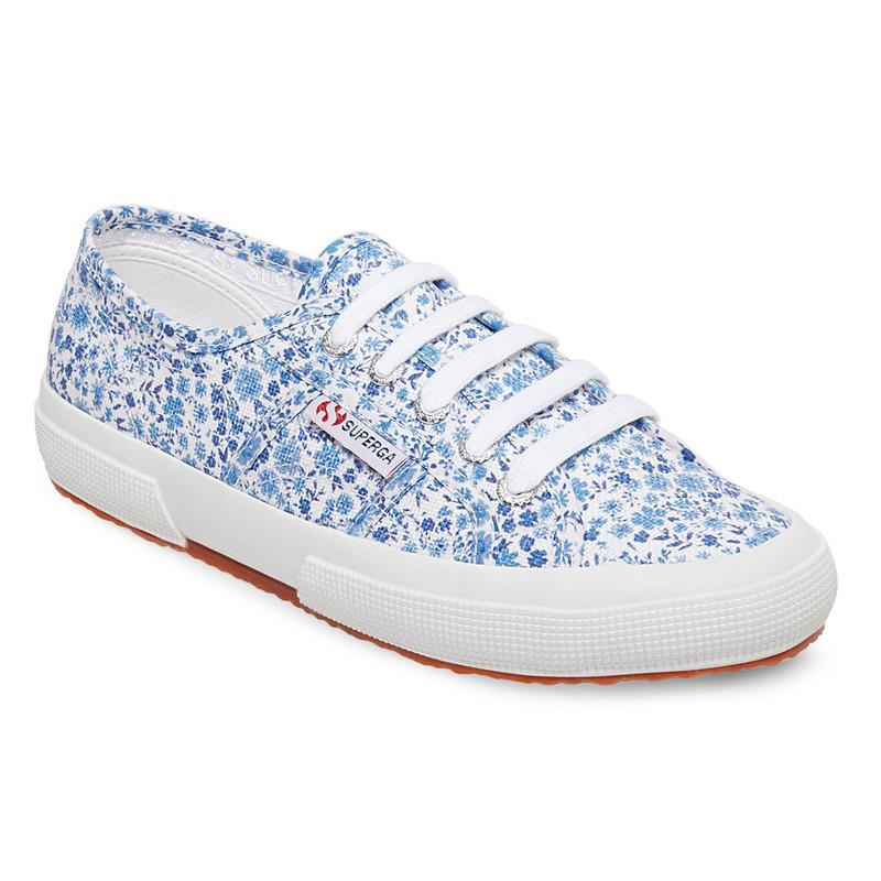 Superga Women's Fantasy Cotu Sneaker - Floral Blue - S00G880 - Main