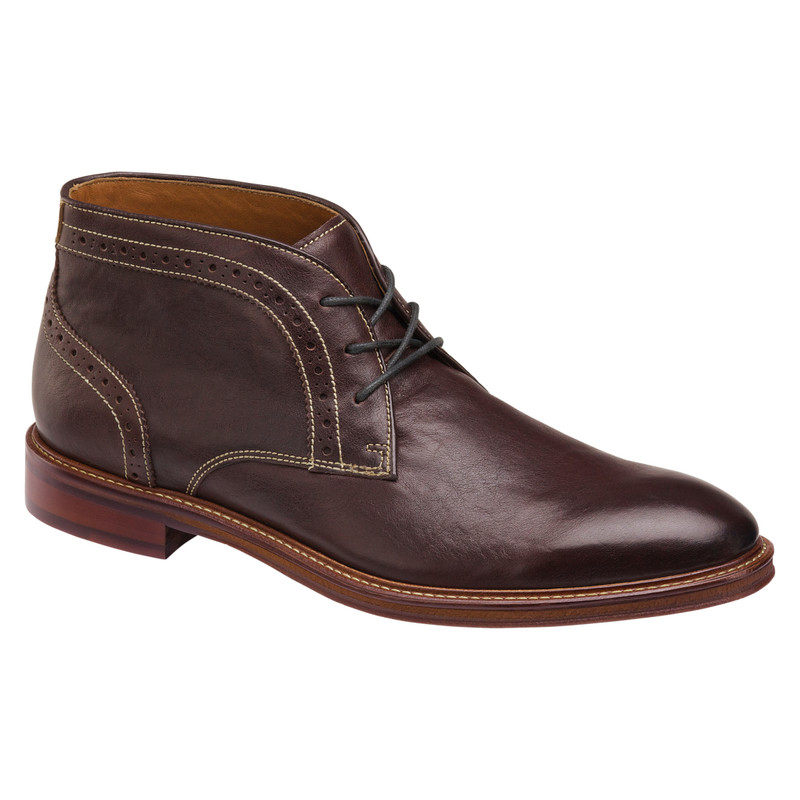Johnston & Murphy Men's Warner Chukka - Mahogany Full Grain - 20-3874 - Profile