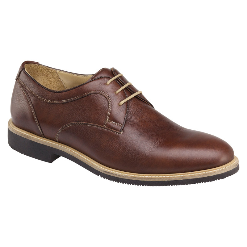 ohnston & Murphy Men's Barlow Plain Toe - Tobacco Full Grain - 20-4870 - Main