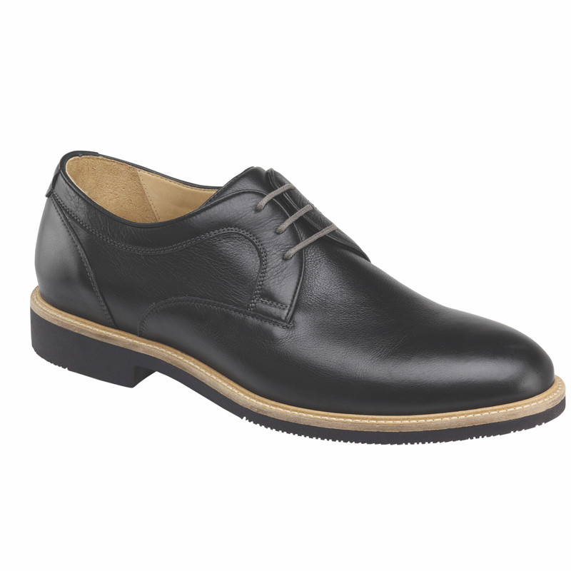 Johnston & Murphy Men's Barlow Plain Toe - Black Full Grain - 20-4871 - Main