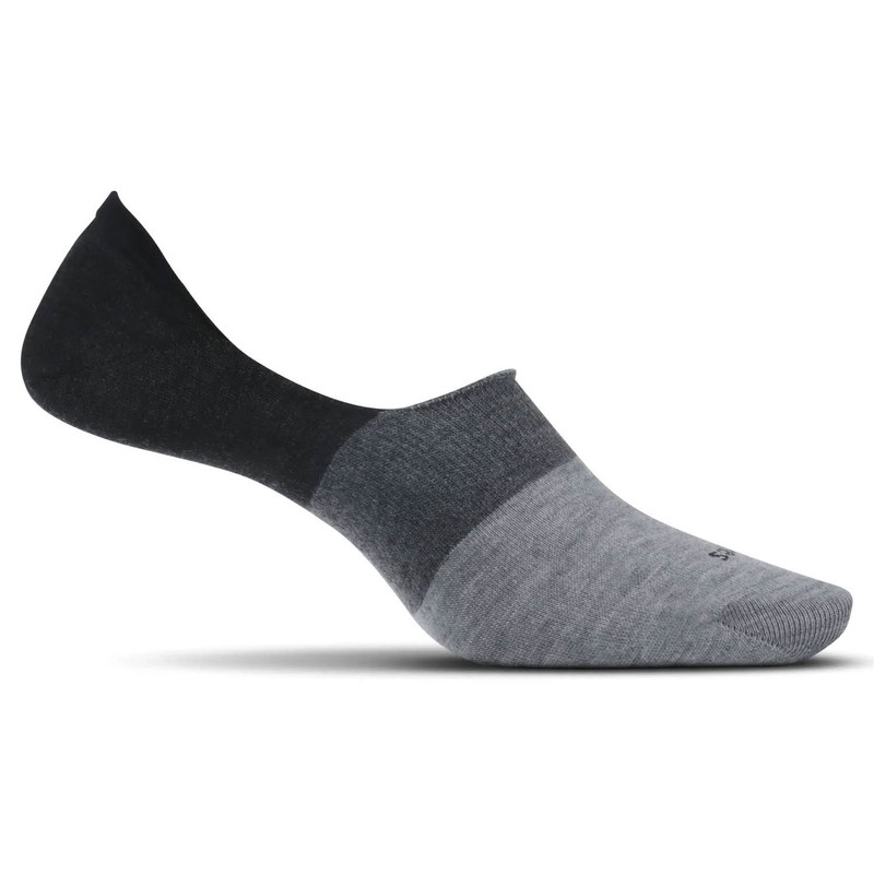 Feetures Men's Hidden Colorblock - Charcoal (LM75226)