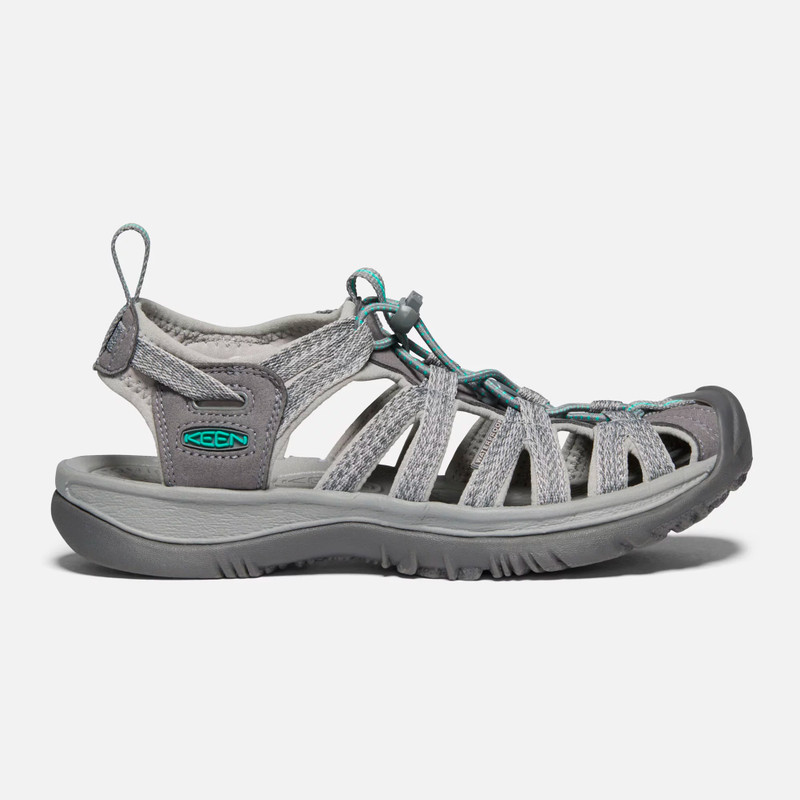 KEEN Women's Whisper - Medium Grey / Peacock Green - 1022814 - Profile