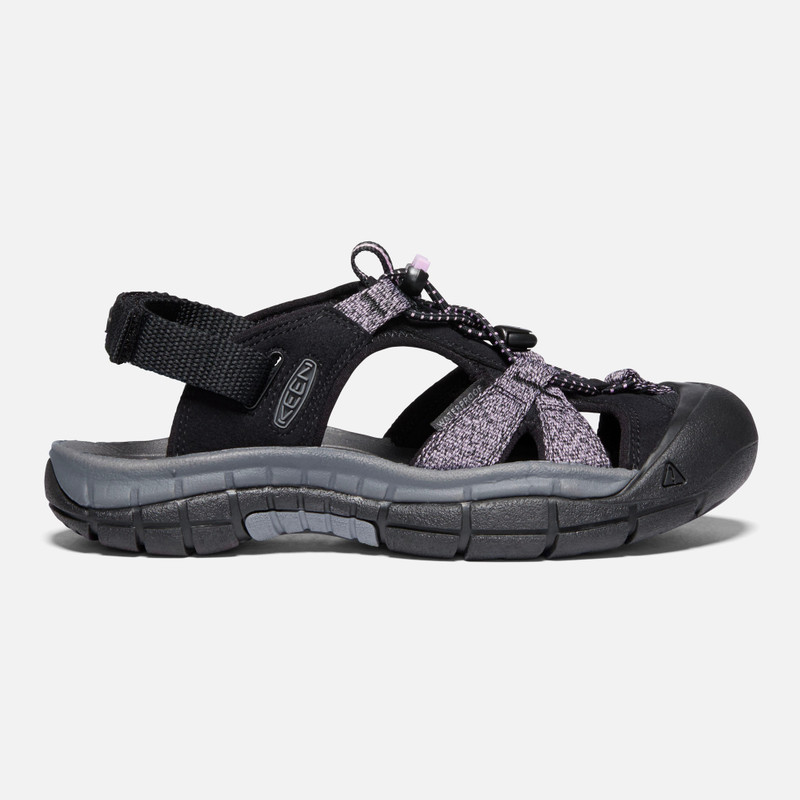 KEEN Women's Ravine H2 Sandal - Black / Dawn Pink - 1023082 - Profile