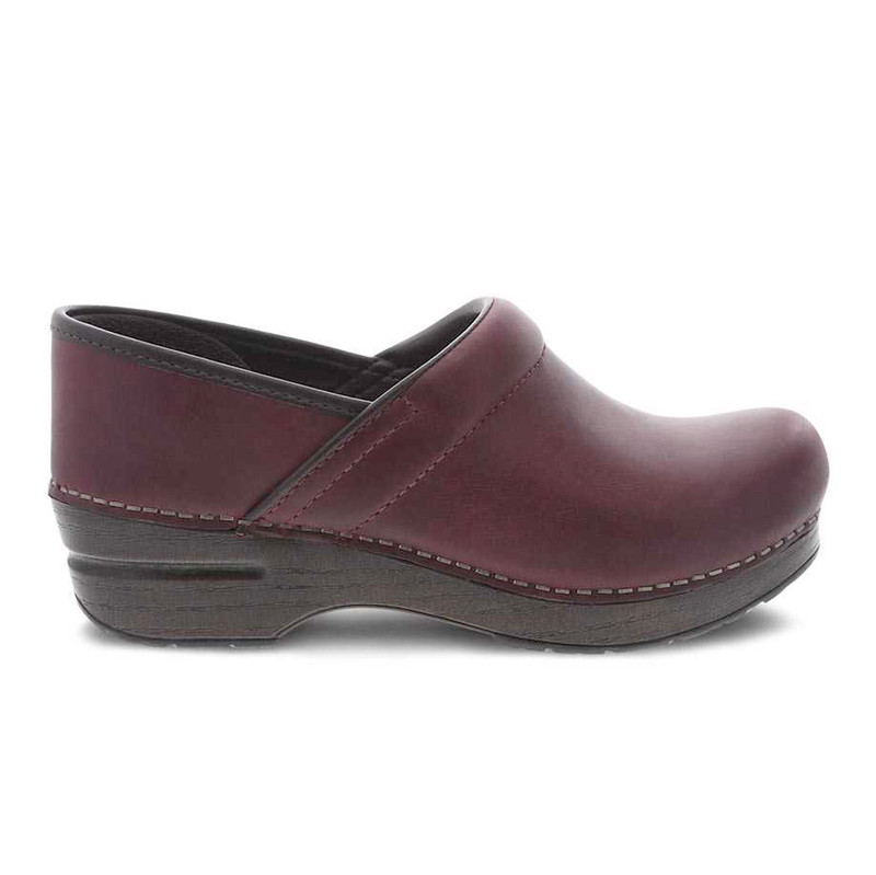 Dansko Women's Professional - Plum Oiled Pull Up - 306-597878 - Profile