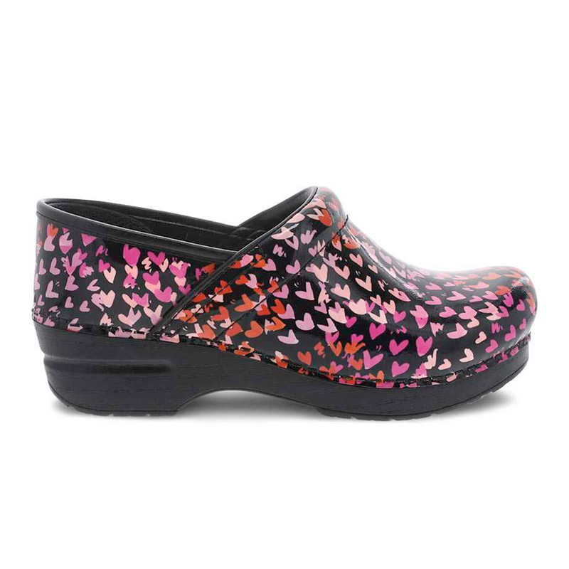 Dansko Women's Professional - Tiny Hearts Patent - 806-580202 - Profile