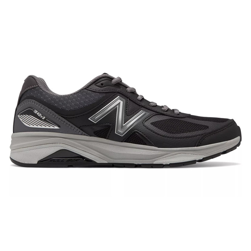 New Balance 1540v3 Men's Stability Motion Control - Black / Castlerock - M1540BK3 - Profile