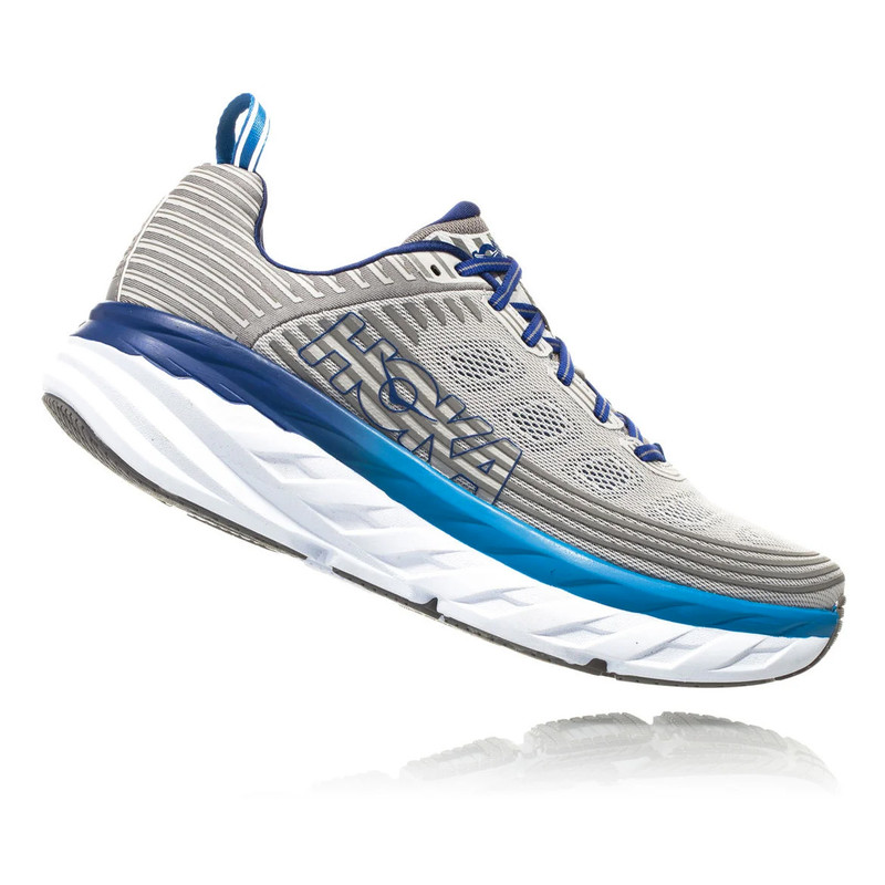 HOKA ONE ONE Men's Bondi 6 - Vapor Blue / Frost Gray - 1019269-VBFG - Profile